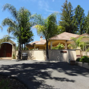 entrance to wine country getaway vacation rental