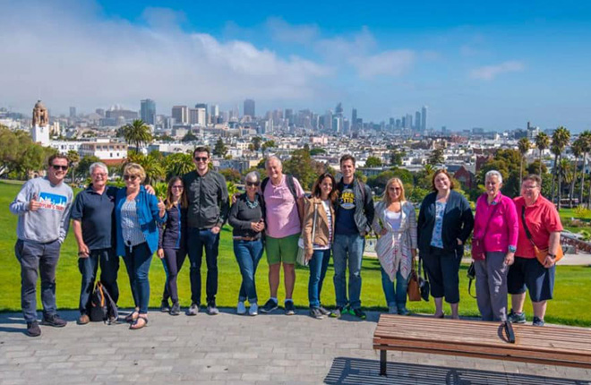 Group on San Francisco City Tour with Dylan's Tours